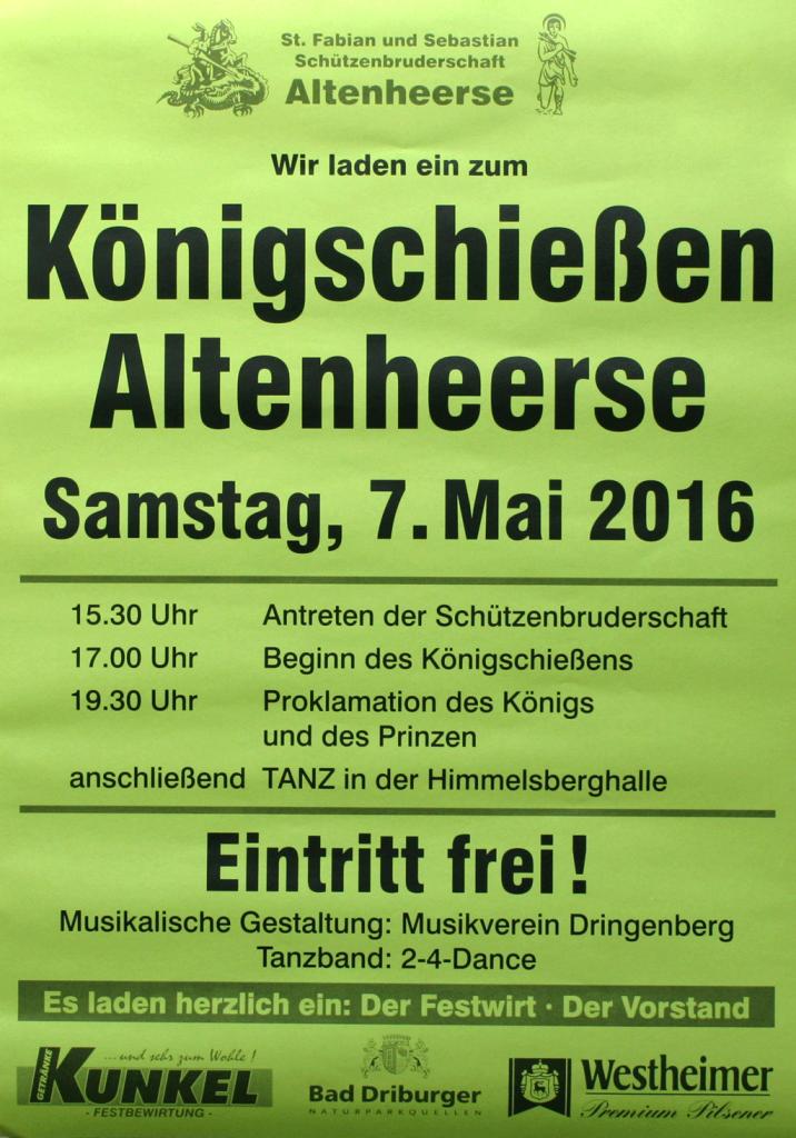 Königsschießen in AltenheerseKönigsschießen in AltenheerseKönigsschießen in Altenheerse