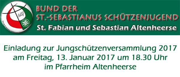Einladung zur Jungschützenversammlung 2017