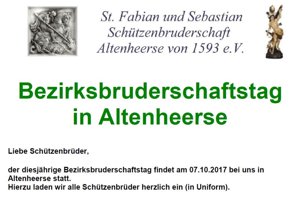 Bezirksbruderschaftstag in Altenheerse