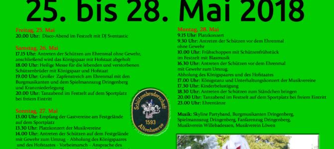 Jubelschützenfest vom 25. bis 28. Mai