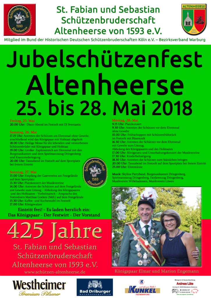 Jubelfest 425 Jahre Schützenbruderschaft - Plakat